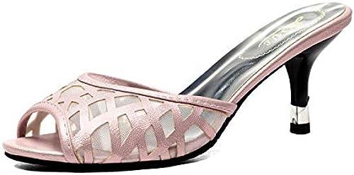 HommesGLTX Talon Aiguille Talons Hauts Sandales Nouvelle Taille 32-43 Sandales Femmes Chaussures D'été Style Décontracté Maison Plage Sandales Pantoufles 4552