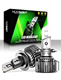 NOVSIGHT H7 LED Headlight Bulbs, 100W 20000 Lumens 600% Extremely Brighter High Power Headlights, High/Low Beam/Fog Light Conversion Kits, 6500K Cool White, IP68 Waterproof, Brightest Halogen Replacement