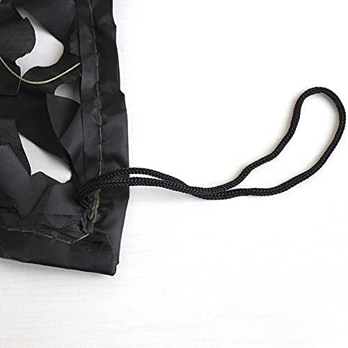 QYQS Toldos para Jardin 150d Oxford Paño Netificación de Camuflaje para Redes de Defensa Aérea Redes de Protección Solar Al Aire Libre Fácil de Instalar(Size:8x8m/26.2x26.2ft,Color:Negro)