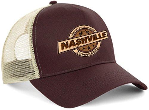 HELLMOTORS Nashville Trucker Cap Hot Rod Biker Kappe Oldschool V8