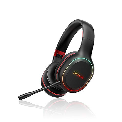 SLUB Auricular BluetoothInalambrico Cancelación Ruido Deporte Gaming Larga Duracion Hi-Fi Sonido Estéreo con Micrófono Headset para TV,PC,Móviles