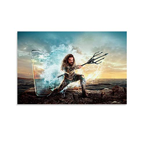 Póster de Dragon Vines Aquaman Trident Art Print 0ffice y Home Renovation 20 x 30 cm