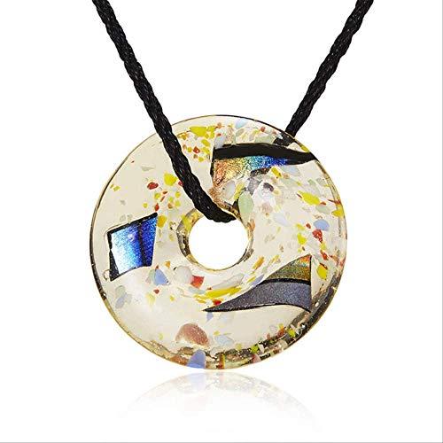 XIANGLIANDIAN Damenhalskette Glas Inlay Blume, Anhänger, Halskette Mond Fußabdruck Schmetterling Weihnachtsbaum Glas Lange Halskette Glasflasche Halskette Schmuck 3