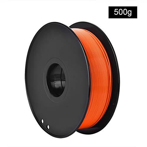 QDTD 3D Printing Filament PLA Filament 1.75mm Rainbow Multicolor, Multicolor Filament PLA 1.75mm, 3D Printing Filament PLA for 3D Printer and 3D Pen, 0.5kg 1 Spool (Color : Orange)
