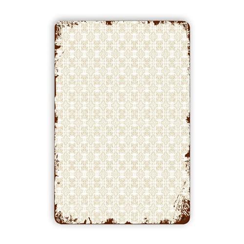 CIKYOWAY Carteles de metal Rich Swirl Leaf Pattern Classic Diseño de azulejos bizantinos, cartel de chapa, pintura de hierro para pared, decoración de pared, arte, placas retro, cartel, placa colgant