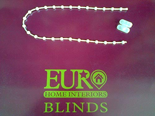 White Plastic Roller Blind Chain 8mm Gap (3 Meters) by ROLLER BLIND SPARES