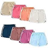 NEWITIN 8 Pack Girl Active Shorts Running Shorts Kids Baby Beach Sport Shorts for Girls 100cm