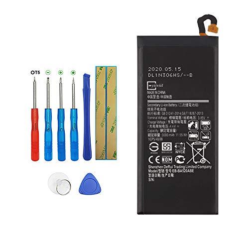 E-YIIVIIL EB-BA520ABE Batería de repuesto compatible para Samsung Galaxy A5 2017 SM-A520F Galaxy J5 2017 SM-J530F con kit de herramientas