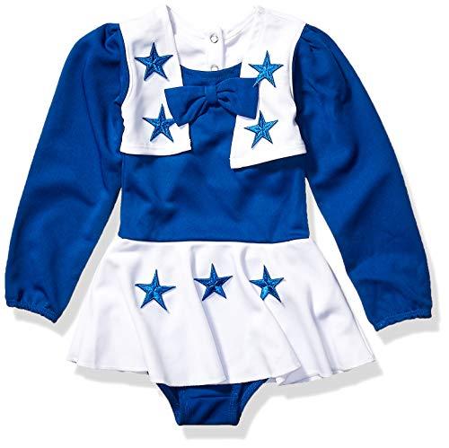 NFL Dallas Cowboys DCC Cheer Uniform, Roy/Wht, 2T