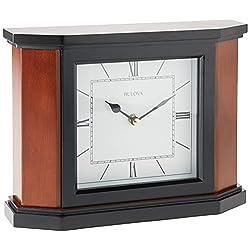 Bulova B1881 Holyoke Clock, Cherry Brown