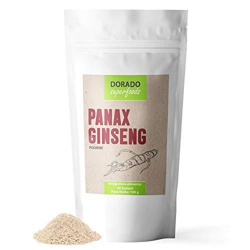 Polvere di Ginseng Panax Koreano Puro - Radice di 7 anni | 100 g - privo di additivi Complemento Alimentare