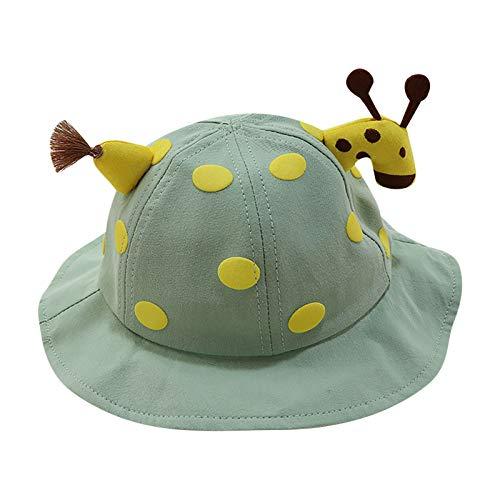 Sombrero de Pescador Bebé Puntos Estampado Animal Verano Sombrero para el Sol Unisex Regalos creativos Plegable Proteccion Solar Bucket Hat para bebé de 1-3 años