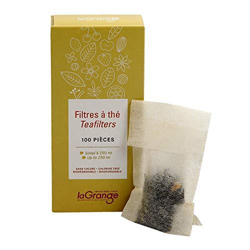 LAGRANGE Filtre à thé en Papier biodégradable en Boite de 100