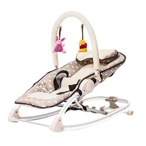 MUJIN schommelstoel, aluminiumlegering, schommelstoel, mand, kalmerend bed, 3 kleuren, 70 cm x 40 cm Heart-vormige doek.