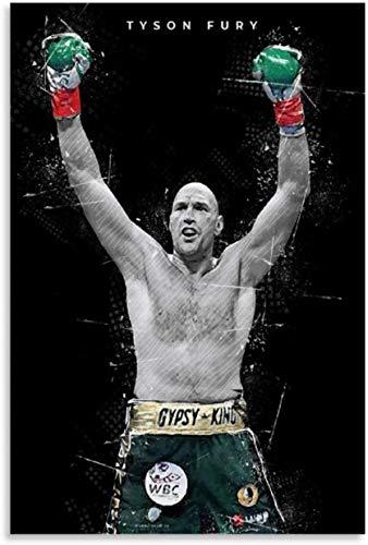 Lienzo Y Arte De Pared PóSter Boxeo Boxer Pop Tyson Fury para decoración de Oficina Pintura Pared Y Estampados Cuadros 19.7'x27.6'(50x70cm) Sin Marco