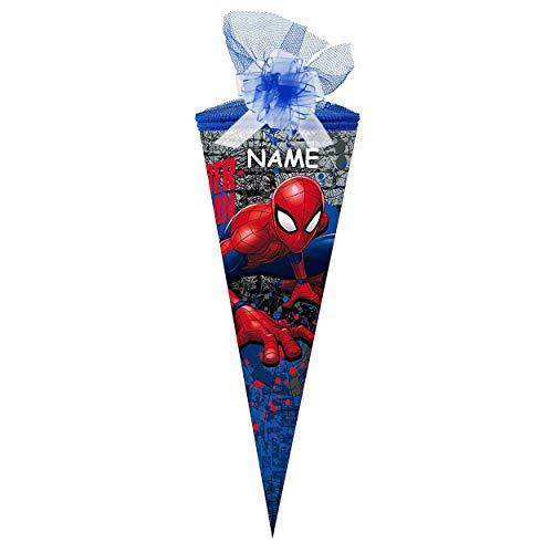 Nestler personalisiert mit Name und Schleife - Schultüte Spider-Man 2018 Zuckertüte Schulanfang Einschulung Schule: Größe: 50cm rund