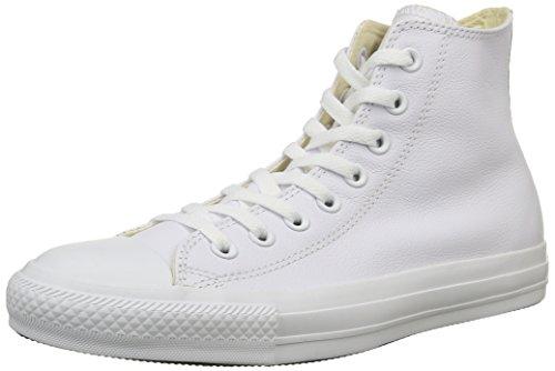 Converse Chuck Taylor All Star, Sneaker a Collo Alto Unisex – Adulto, Bianco (White Monochrome), 37.5 EU
