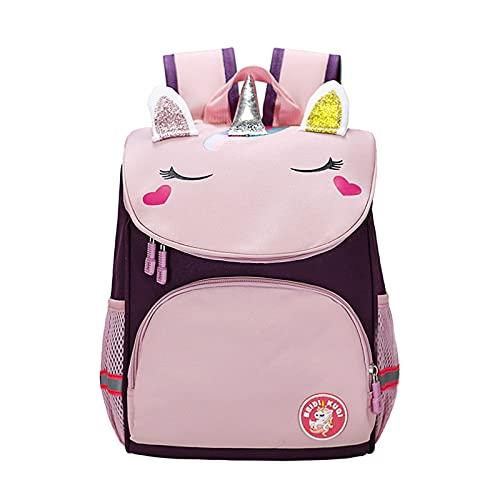 Mochila para niños - Bolsa de Escuela Linda de Unicornio Mochila Linda de los niños Multifunción Impermeable con la Mochila de Seguridad de la Tira reflexiva (Color : 06)