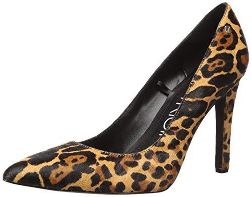 Calvin Klein Women's Brady Pump, Natural Leopard Hair Calf, 11 M US