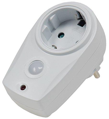 Zwischenstecker Steckdosenschalter mit Dämmerungssensor 10 bis 280 Watt I Simuliert Anwesendheit I Für Lampen Leuchten Tag- & Nachterkennung I 230Volt I Weiß