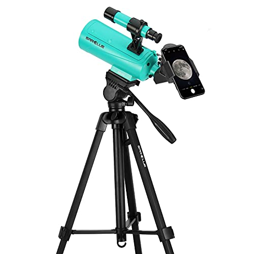 Sarblue Maksutov-Cassegrain Telescope, Mak60 Telescopes for Kids Adults 750x60mm, Compact Portable for Travel, Beginner Astronomy Telescope with Adjustable Tripod Finderscope and Phone Adapter