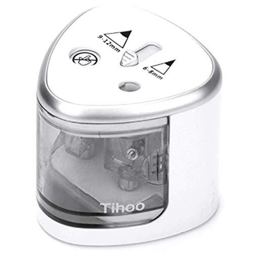 bobotron Tihoo Taille-crayon électrique automatique en métal USB Lettre papier école bureau maison Expédition en art livraison Noir lame