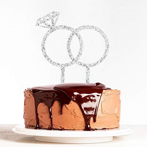 Diamond Ring Cake Topper - Engagement, Wedding, Bridal Shower, Valentine Party Decoration