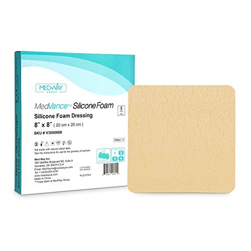 MedVance TM Silicone - Silicone Adhesive Foam Absorbent Dressing, 8