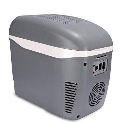 NLRHH 7.5L refrigerador de Coche, Mini refrigerador Pequeño hogar Dormitorio portátil Refrigerador Mini Nevera con congelador-Azul Peng (Color : Gray)