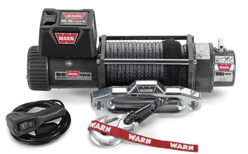 "WARN 87310 Electric 12V 9.5xp-s Series Winch with Synthetic Rope: 3/8"" Diameter x 100' Length, 4.75 Ton (9,500 lb) Pulling Capacity"