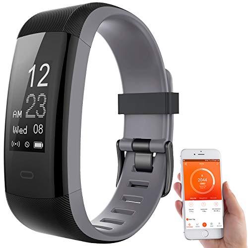 Newgen Medicals GPS Sportuhr: Premium-GPS-Fitness-Armband, XL-Touchdisplay, Puls, 14 Sportarten (Smartwatch Streckenaufzeichnung)