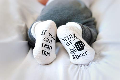 Bring My Dad a Beer Baby Shower Gift, Baby Socks