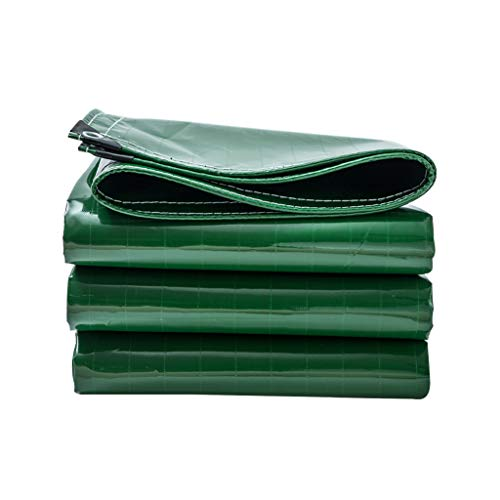Multi-purpose Rain and Sun Protection Tarpaulin Sheet Green | Waterproof, Heavy-Duty | Cover for Tent Camping, Hammock, Pool, Garden, Car, Motorcycle, Boat | PVC Tarpaulin with Eyelets 400GSM