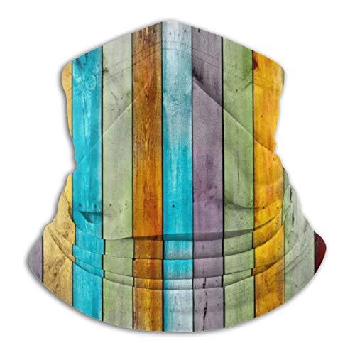 Linger In Multifunktions-Halsabdeckung, buntes Holzbrett Outdoor Strick Kopfbedeckung Wolle Schnee Ski Caps, für Unisex