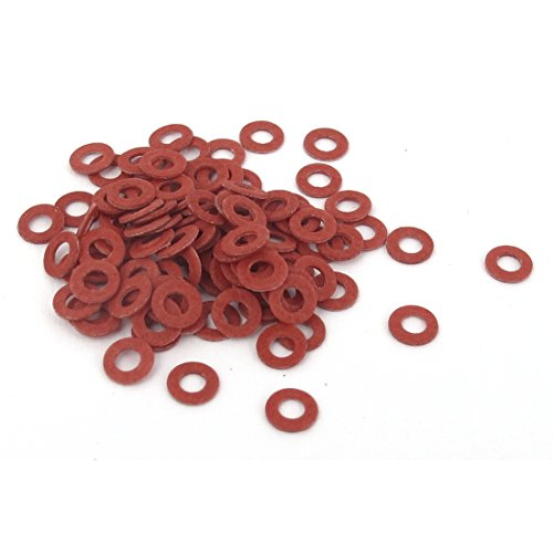 uxcell a15112300ux0387 2mmx4mmx0.5mm Fiber Motherboard Insulating Washers Spacer Red Pack of 100