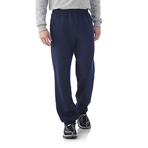Fruit of the Loom Best Collection&#8482 Men's Fleece Elastic Bottom Pant X-Large JNAVY