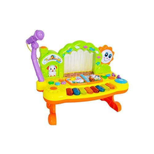 MKJYDM Kinder Multifunktions Tastatur Frühes Lernen Puzzle Musical Toys Mit Mikrofon Mikrofon Wiederaufladbare 36x18x34 cm Intelligentes Spielzeug für Kinder
