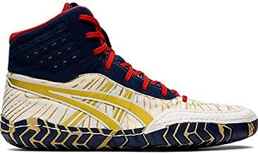 ASICS Men's Aggressor 4 Wrestling Shoes, 10M, White/Rich Gold