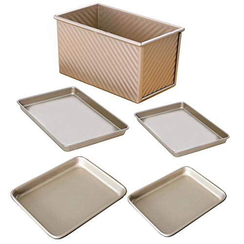Baking Tray, Smooth Edges Cake Mold Non-stick Biscuit Baking Pan, 5-layer Coating Process Baking Tray, Easy Clean & Dishwasher Safe
