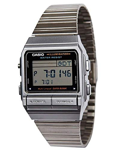 CASIO Data Bank DB 380-1 D DB 380-1 D Telememo Digital Plata Reloj para hombre Japón