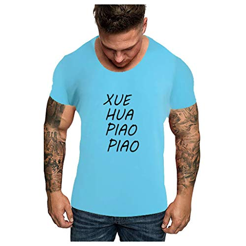 Lowest Prices! Dosoop Men Xue Hua Piao Piao Bei Feng Xiao Xiao Shirt Letter Printed Tees Summer Crew...