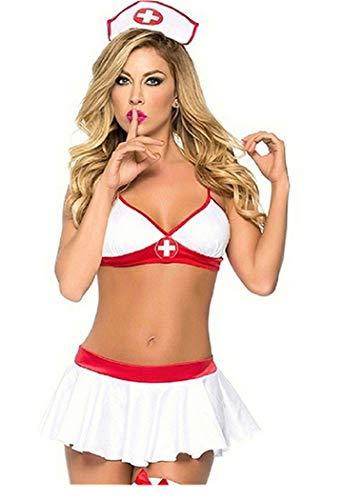 Sexy Cosplay Indossare Abiti da Sera Uniforme del Costume Erotico della Biancheria Intima dell infermiera di Cosplay delle Donne per Party Feste Musicali Halloween Carnevale Mascherata