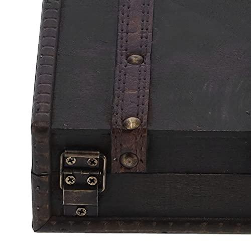 Caja de almacenamiento de madera, liviana y portátil para organizar anillos Cajas de joyería para relojes para un regalo perfecto para amigos