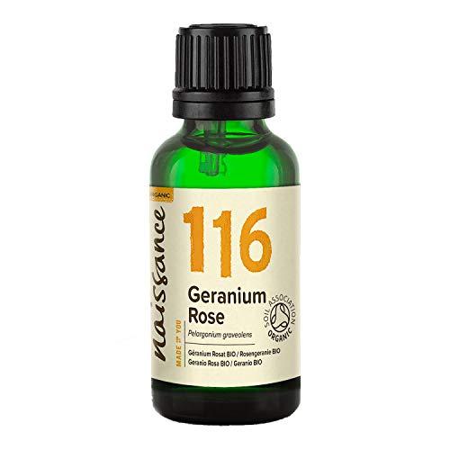 Naissance Olio di Geranio Rosa Biologico - Olio Essenziale Puro al 100% - 30ml
