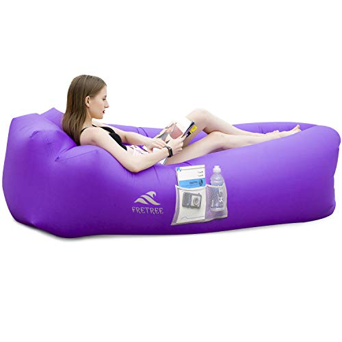FRETREE Inflatable Lounger Air Sofa Hammock - Portable Anti-Air Leaking & Waterproof Pouch Couch and...