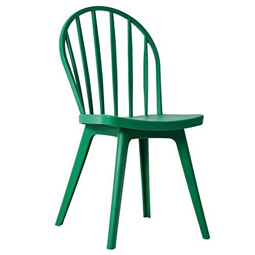 LJFYXZ Sillas de Comedor Silla de casa Windsor Asiento Trasero Alto Capacidad de Carga 260 lbs. Apto para Cocina, Comedor, Sala de Estar. (Color : Green)