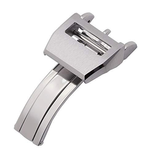 ZLRFCOK 18mm de calidad de acero inoxidable de despliegue plegable de cierre para IWC Mark para/LE PETIT PRINCE para/gran PILOTO Spitfire Timezon Portugués pulsera reloj correa