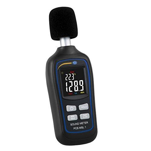 Sonómetro medidor de nivel de sonido digital portátil con función de termómetro / Rango: 35 ... 135 decibelios PCE Instruments PCE-MSL 1