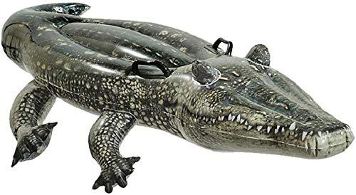 Mopoq Verdicken großes echtes Krokodil Schwimm Reihe Erwachsener Schwimmenring Kinder aufblasbare Wasserspielhalterung