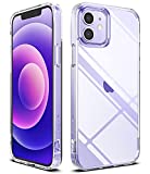 Ringke Fusion Compatible with iPhone 12 Case, Compatible with iPhone 12 Pro Case, Hard Clear PC Back Shockproof Soft Flexible TPU Bumper Phone Cover 6.1-inch - Transparent